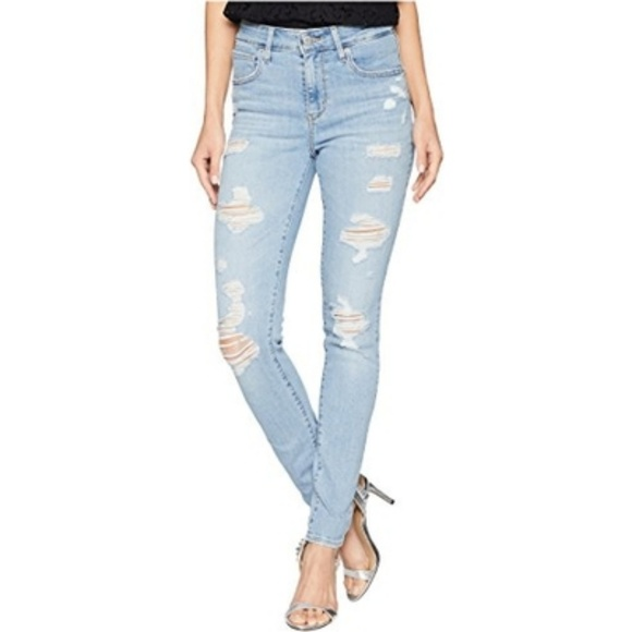 Levi's Denim - Levi's 721 High Rise Distressed Skinny Jeans